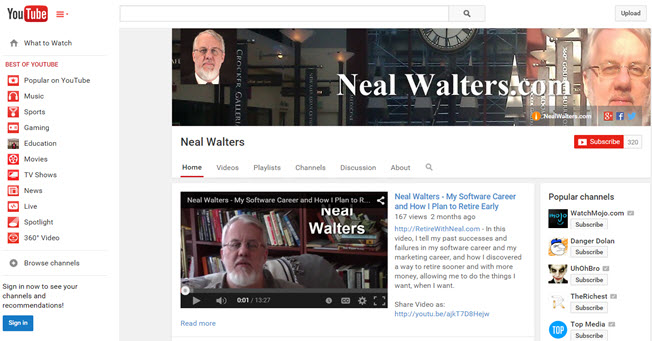 Neal Walters - YouTube Channel